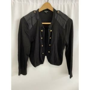 Torrid Cropped Brass Button Cardigan Size 1X